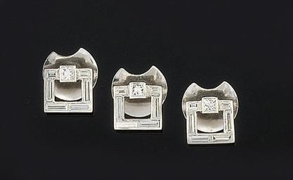 A set of three diamond dress s