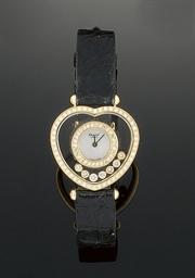 A lady's 18ct. gold, diamond a