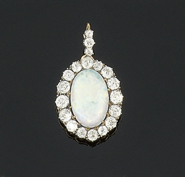 A late 19th century opal and d