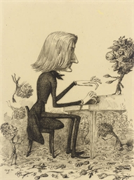 Caricature of Franz Liszt play