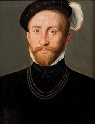 Portrait d'un homme barbu port