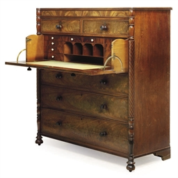 A LATE REGENCY MAHOGANY SECRET