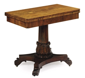 A WILLIAM IV ROSEWOOD TEA TABL
