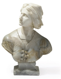 AN ITALIAN ALABASTER BUST OF J