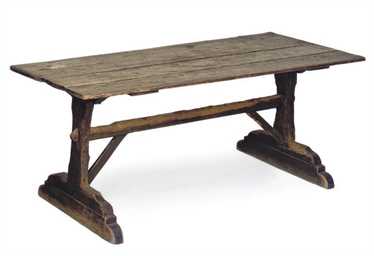 A GEORGE III PINE TAVERN TABLE