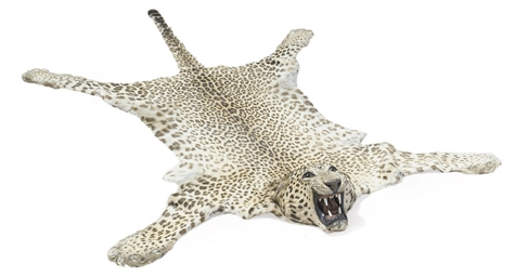 A TAXIDERMY LEOPARD SKIN