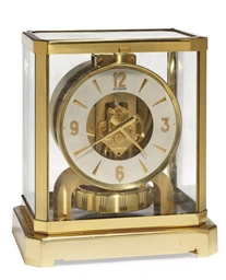 A GILT-BRASS ATMOS CLOCK