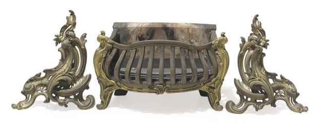 A CAST-IRON AND GILT-BRONZE MO