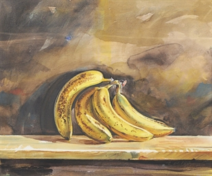 Still life of bananas