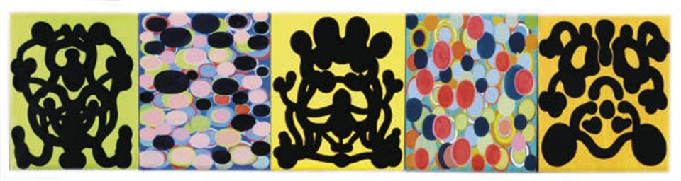 Rorschach Ovaloid (Polyptych 1