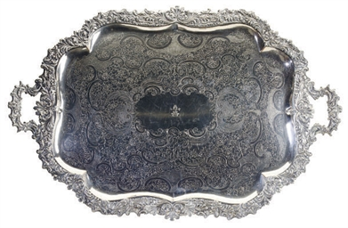 TWO SILVER-PLATED TWO-HANDLED