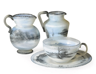 A GROUP OF THREE FRENCH ENAMEL