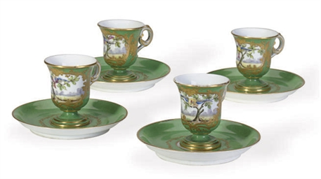 A SET OF TWELVE SEVRES-STYLE P