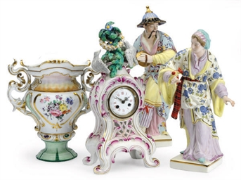 A PAIR OF FRENCH MEISSEN STYLE