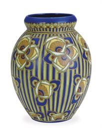 A BELGIAN GLAZED EARTHENWARE O