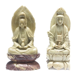 TWO CHINESE SOAPSTONE CARVINGS