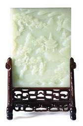 A CHINESE GREENISH-WHITE JADE