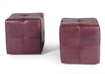 TWO PAIRS OF PURPLE LEATHER SQ