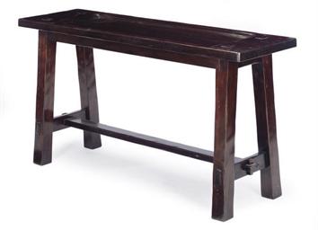 A HARDWOOD ALTAR TABLE,