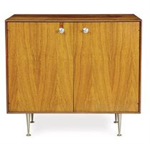 A ROSEWOOD AND ALUMINUM 'THIN EDGE' CABINET,