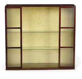 A MAHOGANY AND GLASS VITRINE C