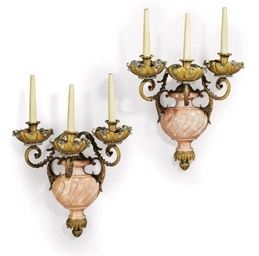 A PAIR OF FRENCH ORMOLU, GILT-