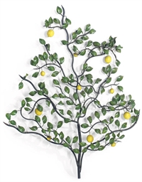 A TOLE-PEINTE LEMON TREE ORNAM