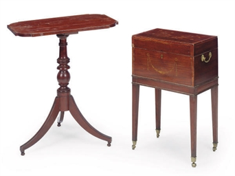 AN ENGLISH MAHOGANY AND MARQUE