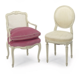 TWO SETS OF FRENCH CREAM-PAINT