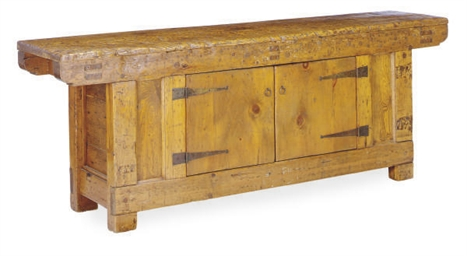 A PINE SIDE CABINET,
