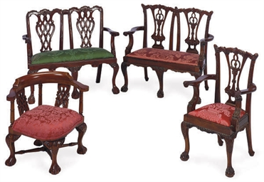 A GROUP OF MAHOGANY CHILDREN'S