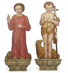 TWO VICTORIAN PAINTED DUMMY BO