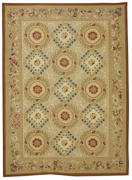 AN AUBUSSON-STYLE CARPET,