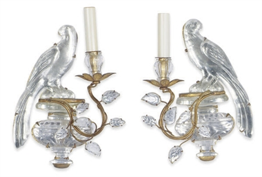 A PAIR OF GILT-METAL AND MOLDE
