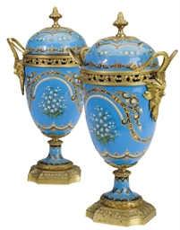 A PAIR OF FRENCH GILT-BRONZE,