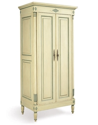 A GREEN-PAINTED ARMOIRE TELEVI
