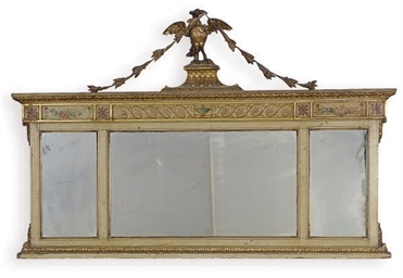 A PAINTED AND PARCEL-GILT OVER