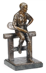 A BRONZE FIGURE OF A SEATED TE