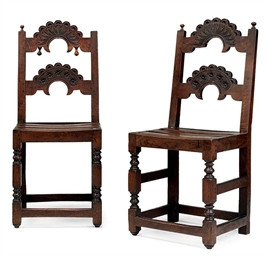 A PAIR OF CHARLES II OAK SIDE