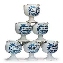 A SET OF SIX ENGLISH DELFT BLU