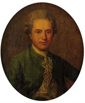 Portrait of Anthony Fitzherbert, bust-length, in a green coat and an embroidered waistcoat