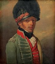 Portrait of Lieutenant Colonel Samuel Cook (d. 1800), of the 8th King's Royal Regiment of Irish Light Dragoons, small-bust-length