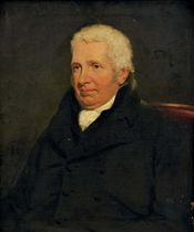 Portrait of Reverend Joseph Cook (1759-1844), seated half-length, in a black coat with a white collar