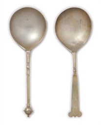 A NORWEGIAN SILVER-GILT SPOON