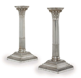 A PAIR OF GEORGE V SILVER CORI