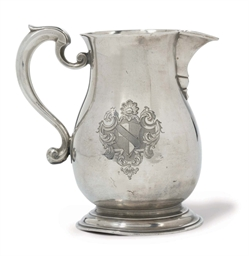 A GEORGE II BALUSTER SILVER BE
