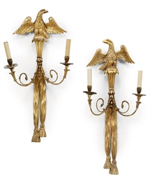 A PAIR OF REGENCY GILTWOOD TWO
