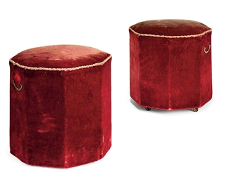 A PAIR OF LATE VICTORIAN RED V