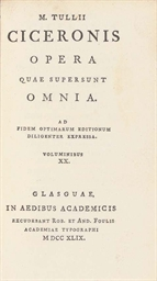 CICERO, Marcus Tullius.  Opera