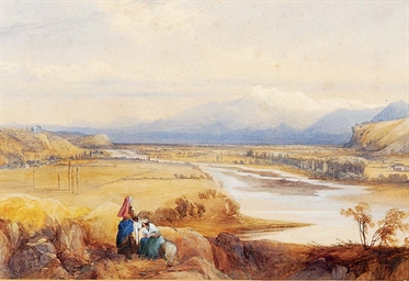 A mountainous Italianate lands